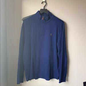 Blue Men's Polo by Ralph Lauren quarter zip